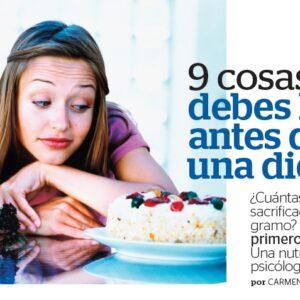 9 cosas que hacer antes de seguir una dieta